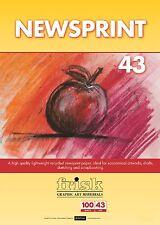 Registre papel prensa 43 GSM 100 Hojas-Ideal Para Dibujo Y SCRAPBOOKING