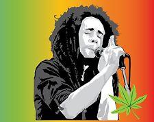 BOB MARLEY Sticker Decal *3 SIZES* Jamaica Reggae Vinyl Bumper Wall