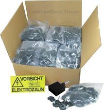 Ringisolator 250St. - 500St. Eindreher Warnschild Isolator Weidezaun Elektrozaun