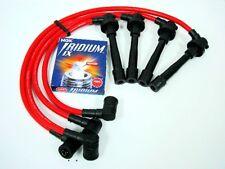 FOR 95-98 NISSAN 200SX SR20DE 2.0L SPARK WIRES NGK IRIDIUM IX PLUGS RED KIT