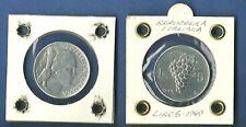 ITALIA LIRE 5 VECCHIO TIPO UVA 1949 Quasi / FIOR DI CONIO prezzo speciale regalo