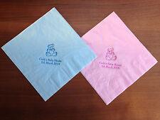 50 x Personalizzati Baby Shower Tovaglioli/Tovaglioli