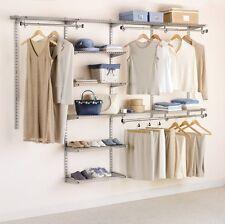 Custom Closet Organizer Rubbermaid Deluxe Shelving Unit 4-8' Storage Rack Kit