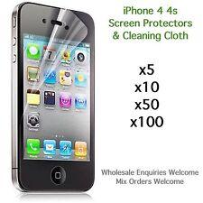 IPhone 4 4S Protections écran et chiffon de nettoyage en Gros Job Lot