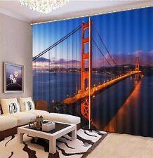 Suspension Golden Gate Bridge 3D Blockout Photo Printing Curtains Draps Fabric