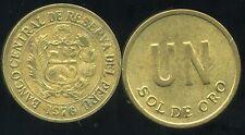 PEROU  1 sol de oro 1976  ( bis )