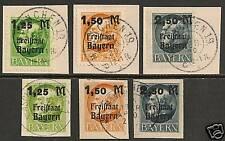 Bayern 1919 MI 174-176 A+B  CANC  VF