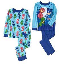 PJ Masks 4 PC Long Sleeve Tight Fit Cotton Pajama Set Boy Size 5T