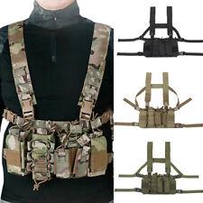 Tactical Chest Rig Vest Ranger Harness Split Front Carrier CS Military Gear