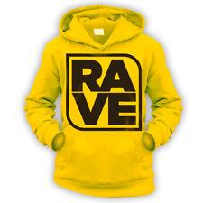 Rave Kids Felpa con cappuccio-X9 COLORI-REGALO DANCE CLUB DJ MUSICA serata studente