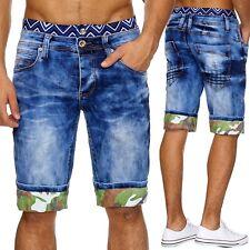Herren Jeans Hose übergröße stonewashed Klassisch shorts denim Neu sommer Top