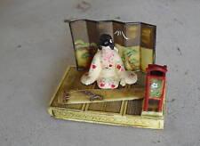 Vintage Resin Plastic Asian Woman Figurine LOOK