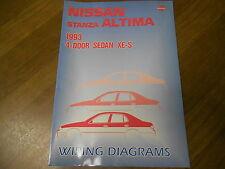 1993 Nissan Stanza Altima Service Repair Shop Manual Wiring Diagram FACTORY 93