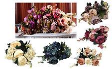 Pfingstrosen Bund 52 cm Kunstblumen 11 Blüten Blumenstrauß Seidenblumen
