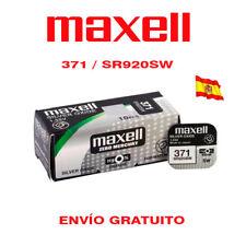 PILAS MAXELL 371 SR920SW OXIDO DE PLATA 1,55 V BATERÍA RELOJ