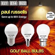 3w=25w , 5w=40w, 7w =60 Watt LED Golf Ball Mini globe G45 Lamps Warm White