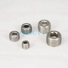 "1/16""-1"" NPT Male SS304 Countersunk End Plug Internal Hex Head Socket Fitting"
