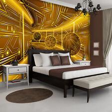 VLIES Fototapeten Fototapete Tapete GOLD TUNNEL ABSTRAKTION KUGELN 3D 3FX10081VE
