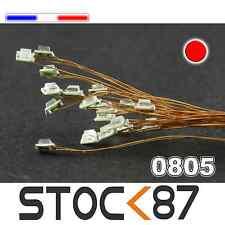 C149# LED CMS pré-câblé 0805 rouge fil émaillé 5 à 20pcs  - red prewired LED