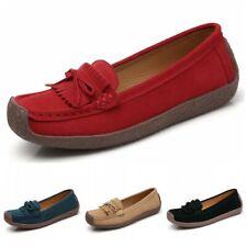 Women Comfort Slip On Bowknots Tassel Loafers Driving Moccasins Flats Shoes 42 D