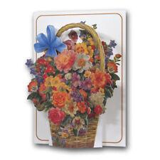 Pictoria Press 3D Pop Up Cesta de flores de tarjeta de Felicitación Cumpleaños Mama Aniversario
