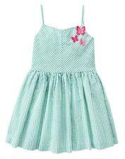 NWT Gymboree Island Hopper Seersucker Butterfly Striped Dress 5 8 10 Girls