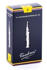 Vandoren SR202 Soprano Sax Traditional Reeds Strength 2; Box of 10