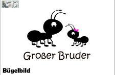Bügelbild Ameise Großer Bruder Wunschname  -Farbe - XL