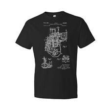 Buchi Two Stroke Engine Shirt Gearhead Gift Engine Blueprint Garage Workshop Tee