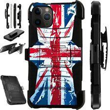 For iPhone 11/X/8/7/6 PRO MAX PLUS Phone Case UK BRITISH Flag FADED LuxGuard