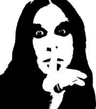 Ozzy Osborne vinyl decal sticker black sabbath metal rock bats diary madman cd