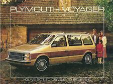 1985 Plymouth VOYAGER VAN Brochure / Catalog:SE,LE,