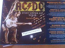 AC/DC - UK STIFF UPPER LIP TOUR 2000 - original advert fridge magnet ACDC