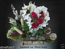 T14-73 Totensonntag Gesteck Allerheiligen Grabgesteck Gedenken Grabschmuck Herz