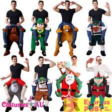 Mens Shoulder Carry On Piggy Back Ride Me Fancy Dress Adult Party Costume Mascot