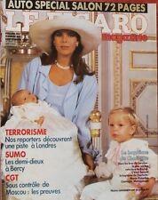 Mme Figaro 27/11/1986 Baptême Charlotte Monaco Nathalie Baye Salon Auto