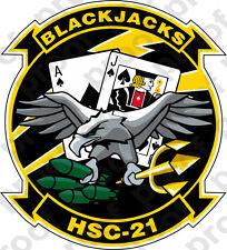 STICKER USN HSC 21 BLACKJACKS