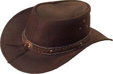 UNICORN Real Leather Australian Aussie Bush Cowboy Sun Hat Brown :S to XXL: #8H