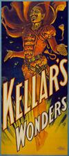 "M16 Huge 17""x38"" Vintage Magic Kellar Magician Illusionist Poster Re-Print"