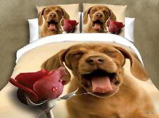 Animale effetto 3D/stile del fiore 3 PC, completo set di biancheria da letto federa & Lenzuolo
