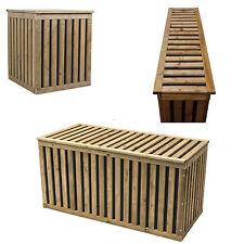 Auflagenbox Holztruhe Gartenbox Kissenbox Gartentruhe Holz Kunststoff HoPstiBox
