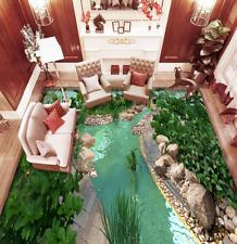3D Bel Jardin Fond d'écran étage Peint en Autocollant Murale Plafond Chambre Art