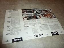 MORGAN PLUS 4 Mark V Cabriolet Roadster  LITERATURE  MANUAL BROCHURE PAMPHLET