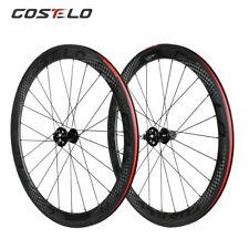 Road Bike Disc Carbon Wheels 50mm Clincher Tubuless Tubular bicycle Wheelset