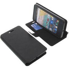 Tasche für Archos 45b Neon Smartphone Book-Style Schutz Hülle Handytasche Buch