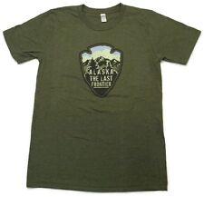 Alaska Last Frontier Arrowhead Adult Tee Shirt Army Green