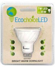 Ecochoice LED Downlight 7W equiv 35W GU10 Bright Warm Light Quality Mercury free