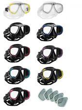Scubapro Zoom Evo Tauchermaske mit optischen Gläsern positiv u. negativ