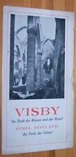 Visby Isola Di Gotland Svezia # # 1925 # VIAGGIO-Pubblicità