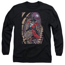 Batman Harley First Mens Long Sleeve Shirt Black